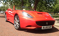 Ferrari california bluechip hire