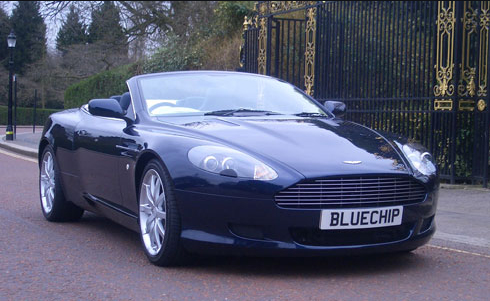 Aston Martin Db9 Volante Car Hire Bluechip Car Hire