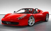 Ferrari 458 Spider for hire