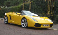 lamborghini roadster to hire