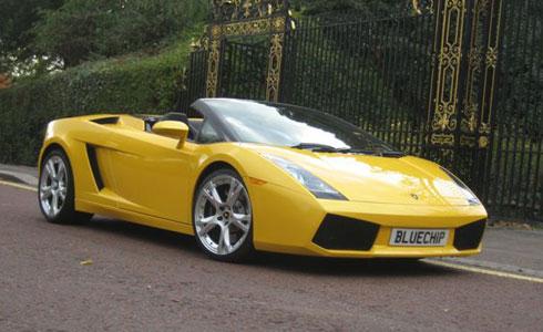 Lamborghini Roadster Hire Bluechip Car Hire - Sports cars for hire
